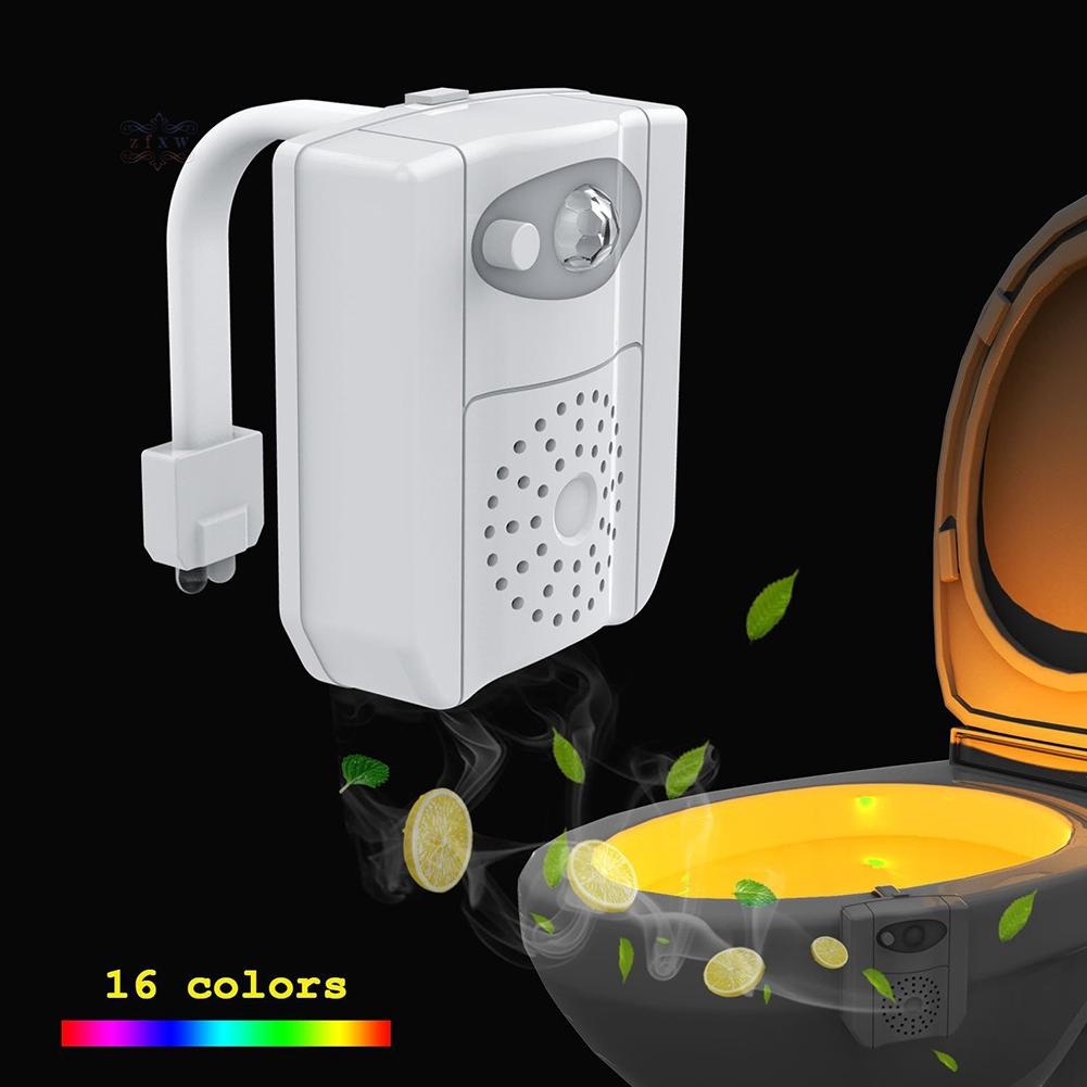 Đèn Led 16 Màu Cảm Biến Hồng Ngoại Khử Trùng Nhà Vệ Sinh