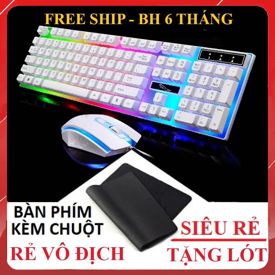Bàn Phím Chuột Giả Cơ G21 [ TẶNG LÓT CHUỘT ] - Chuyên game - Có đèn LED 7 màu - Cho máy tính, laptop [ BH 6 THÁNG ]