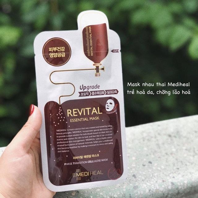 Mặt Nạ Nhau Thai Cừu Mediheal Placenta Revital Essential Mask Ex 2