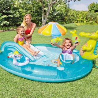 Bể bơi cho Bé, bể bơi kèm cầu trượt, bể bơi Intex