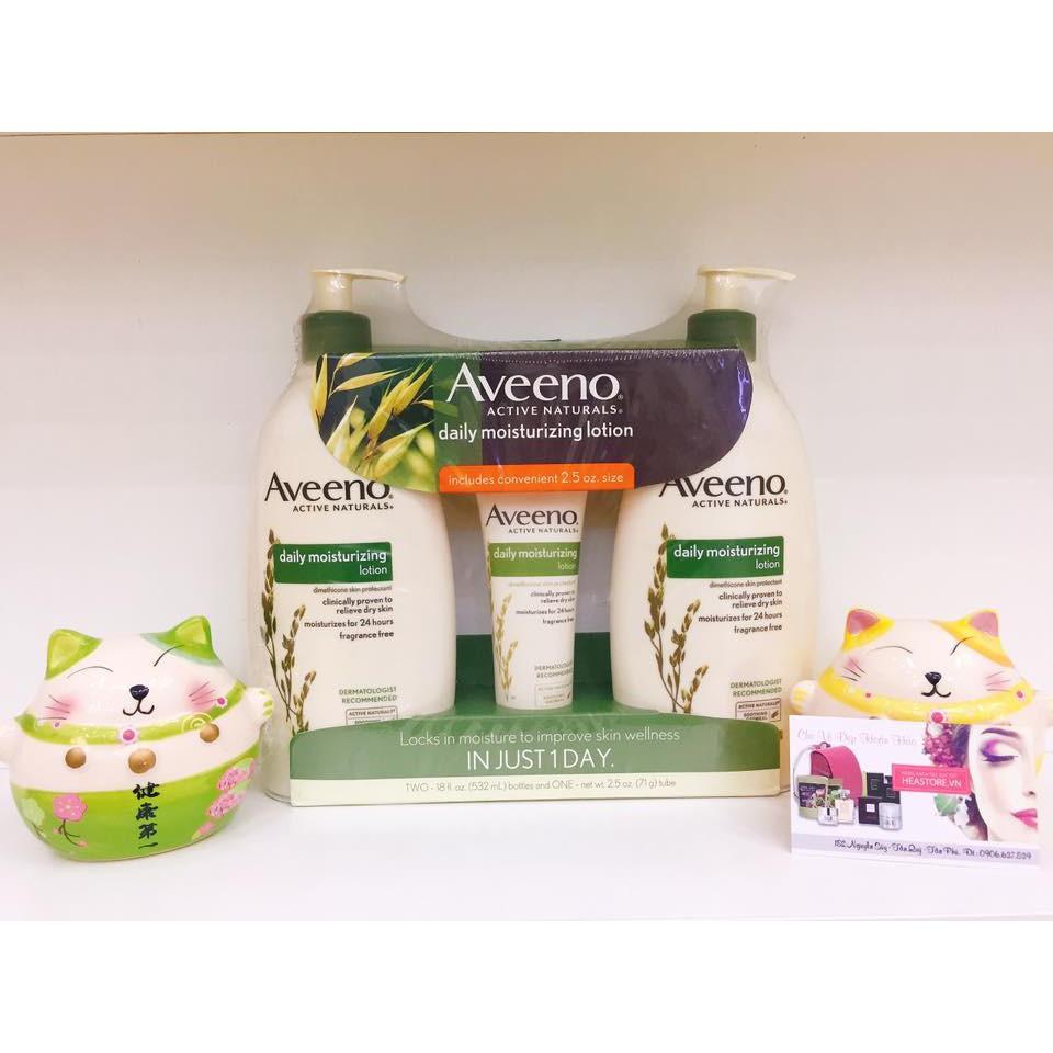 Bộ sản phẩm sữa dưỡng thể Aveeno Daily Moisturizing Lotion 591ml x2