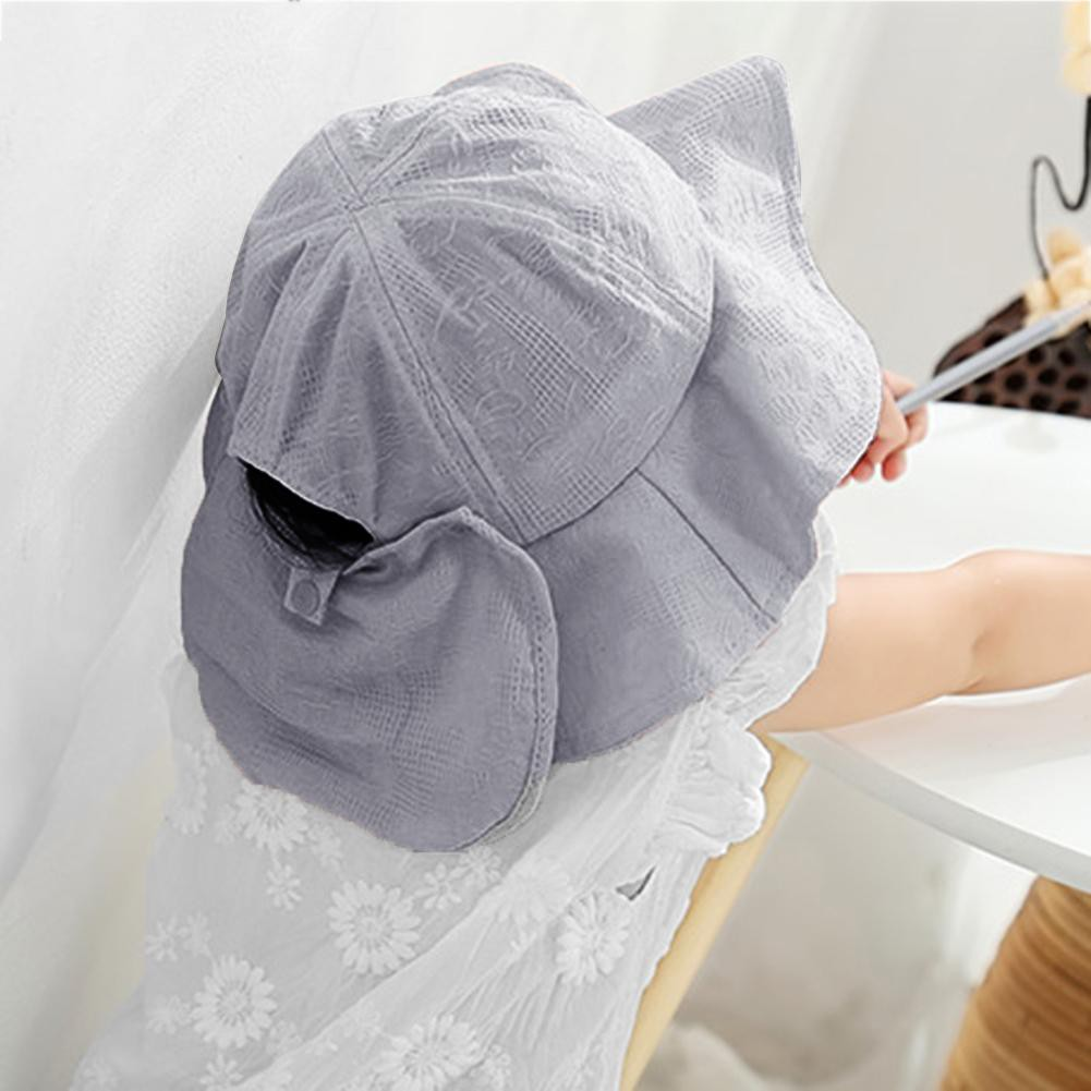 👒Cozyroomsa Lovely Bow Elastic Band Baby Hat Sum Beach Sunshade Cap Fisherman Hats