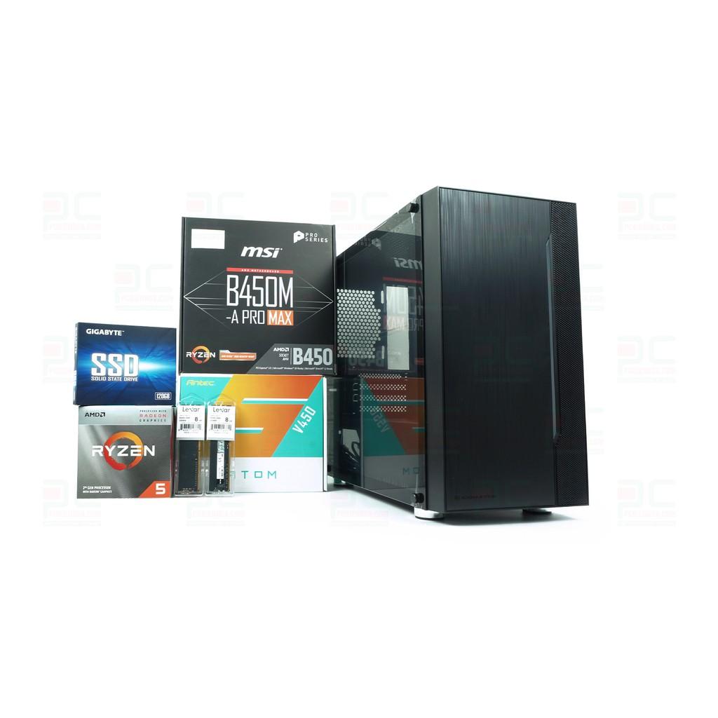 Máy tính AMD Ryzen 5 3400G B450M 16G 120G 450W chính hãng