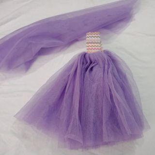Đầm dạ hội cao cấp có khăn voan kèm theo búp bê 30cm