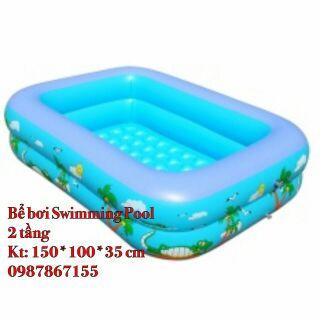 Bể bơi 2 tầng 150 x 100 ×35 cm