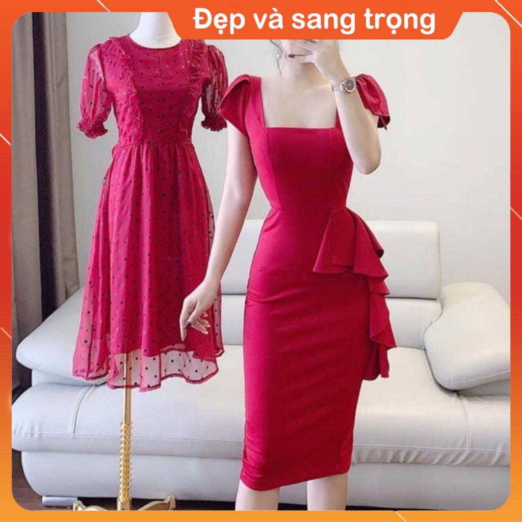 4128035094 - [Đầm thiết kế] Váy body cổ vuông nữ hoàng đầm dự tiệc công sở chất liệu cao cấp V1159 Váy đẹp cao cấp made in Việt Nam