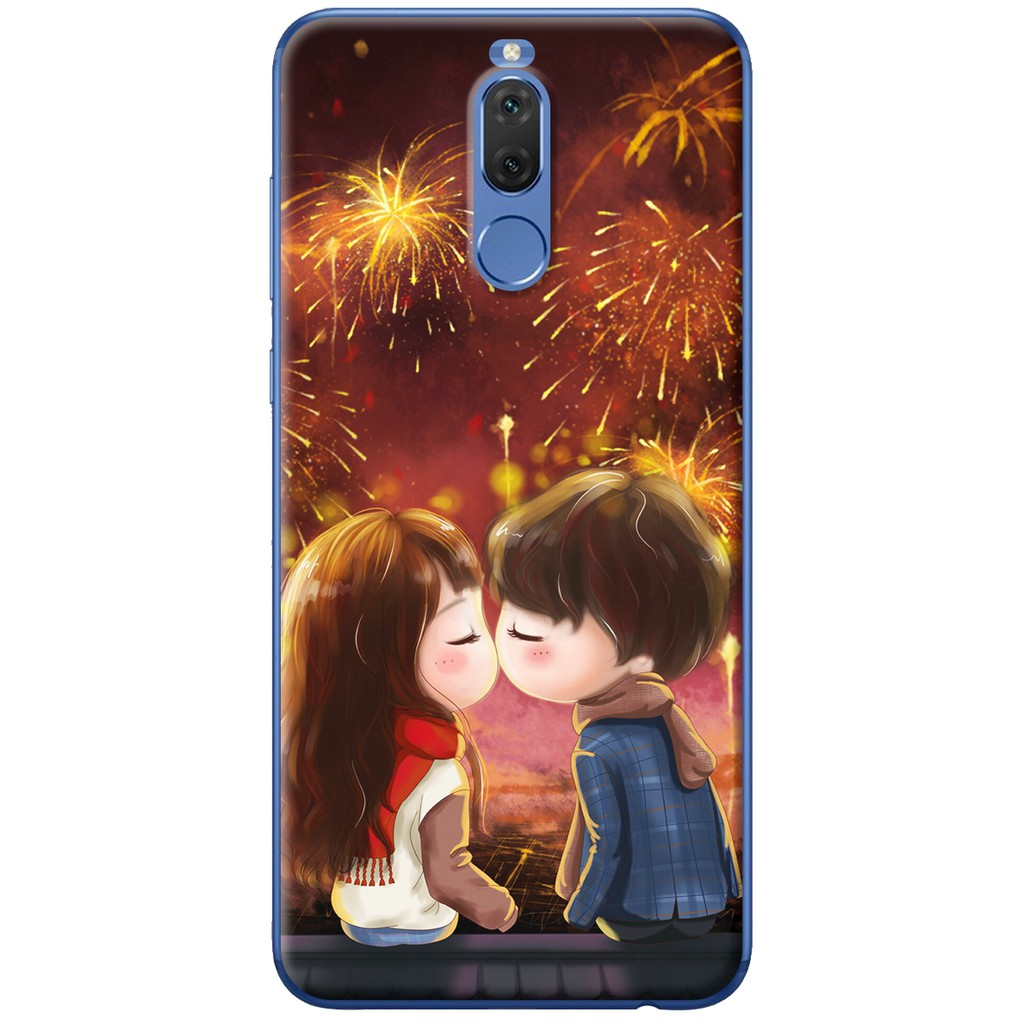 Ốp lưng nhựa dẻo Huawei Nova 2i Hôn nhau dưới pháo hoa