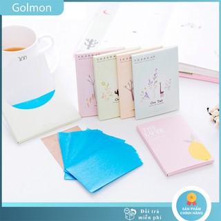Giấy thấm dầu gói 50 tờ làm sạch da kiểm soát dầu GOLMON thumbnail