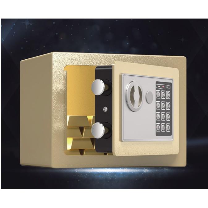 Két sắt an toàn cỡ nhỏ cho mọi gia đình tiết kiệm cho gia đình - sử dụng cả mã số và khóa chìa đồng thời