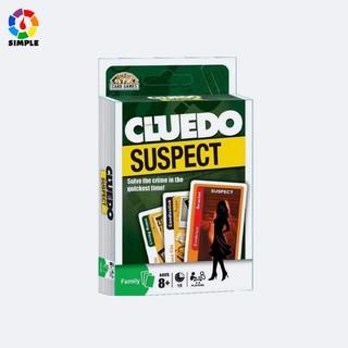 Cluedo Suspect Card Game Bộ thẻ bài trò chơi Vụ Án Biệt Thự bản tiếng Anh Board game gia đình Truy tìm Thủ Phạm trí tuệ thumbnail