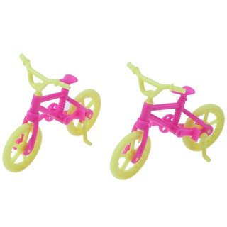 2pcs Handmade Doll Bicycles Bike Accessories Fashion Plastic Gift Toy charmant.vn