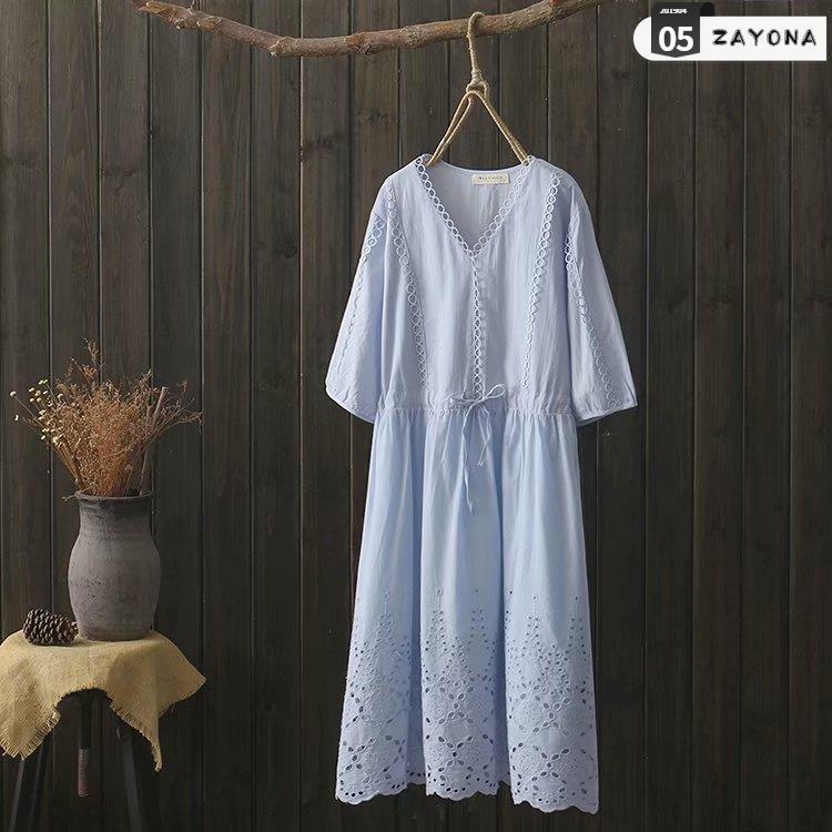 2019 về sự bùng nổ mới của váy trắng Xia Chaoxian thêu các mẫu nổ mỏng trong váy dài bãi biển váy dài của phụ nữ nước ng