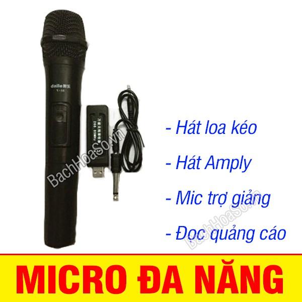 Micro đa năng không dây, dùng hát loa kéo, Mic trợ giảng
