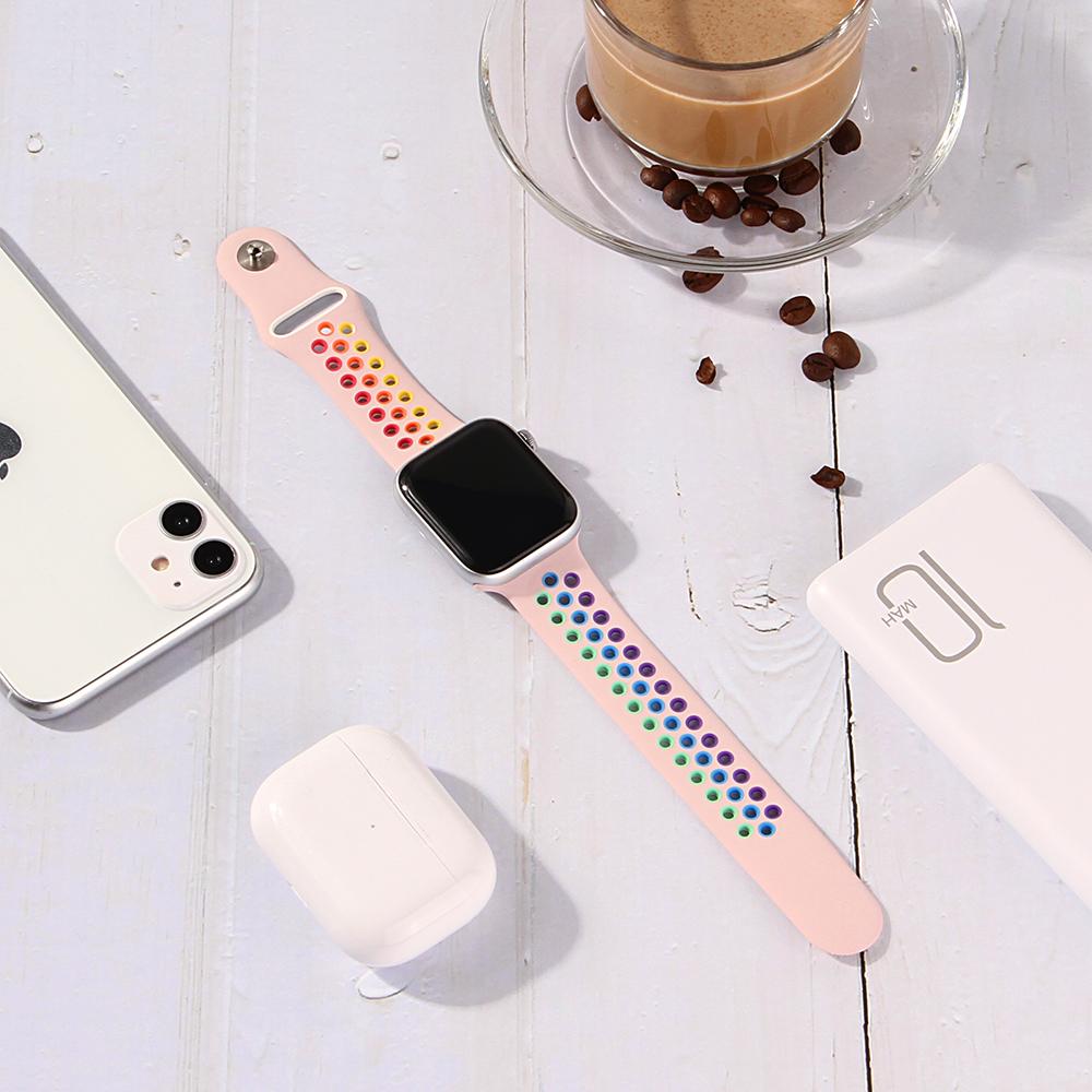 Dây Đeo Silicon Thể Thao Cho Đồng Hồ Thông Minh Apple Watch Series 5 4 3 2 1 38mm 40mm 42mm 44mm