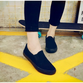 Giày lười full đen