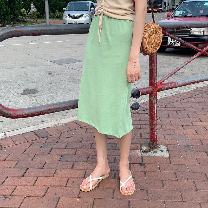 Chân Váy Chữ A Lưng Cao Phong Cách Hàn Quốc Xinh Xắn Cho Nữ