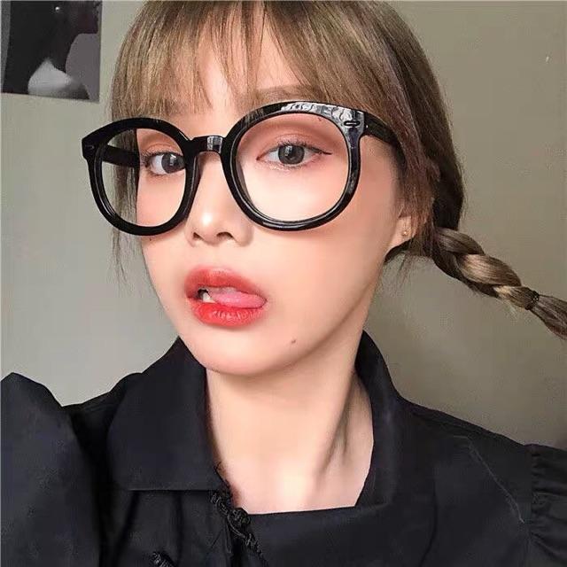 [SẴN]BASIC GLASSES - Kính đen gọng to Harajuku