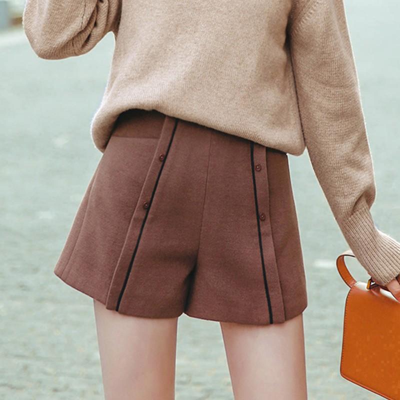 Loose wool female autumn 2018 new wear leggings high waist pants chic retro boot