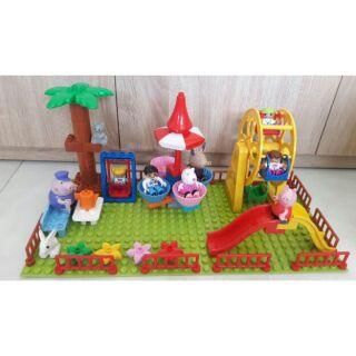 Lego peppa pig - công viên vui chơi tương thích lego duplo thumbnail