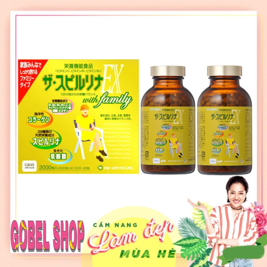 Tảo vàng Spirulina EX Nhật Bản hộp 2000 viên (2 lọ) - 2949547 , 1268017553 , 322_1268017553 , 2500000 , Tao-vang-Spirulina-EX-Nhat-Ban-hop-2000-vien-2-lo-322_1268017553 , shopee.vn , Tảo vàng Spirulina EX Nhật Bản hộp 2000 viên (2 lọ)