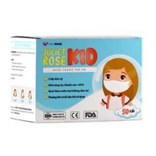 [Chinh Hang] Khẩu Trang Y Tế Trẻ Em Juliet ROSE KID (50c) thumbnail