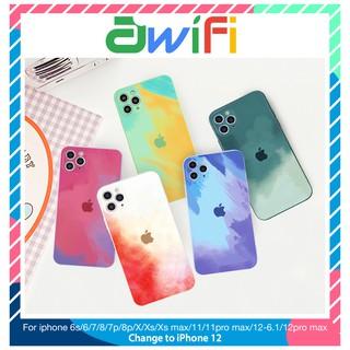 Ốp lưng iphone Water Color cạnh vuông BVC 6/6plus/6s/6splus/7/7plus/8/8plus/x/xr/xs/11/12/pro/max/plus/promax-Awifi A1-9