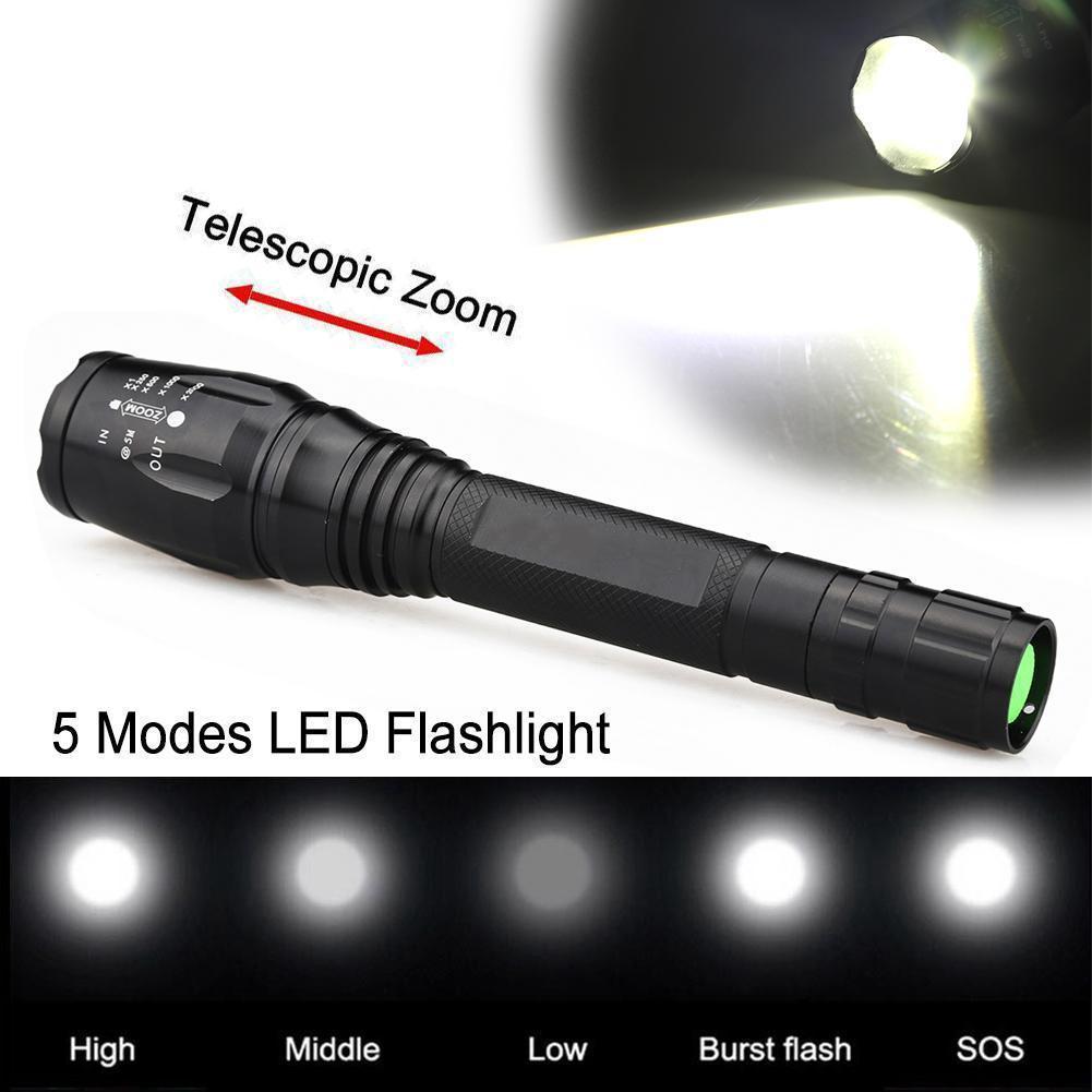 Đèn pin LED 10000Lm 5 chế độ sáng tiện gọn chất lượng cao