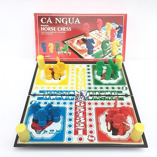 Bộ cờ cá ngựa nam châm cao cấp, đồ chơi trí tuệ, nhiều kích cỡ cho bạn lựa chọn