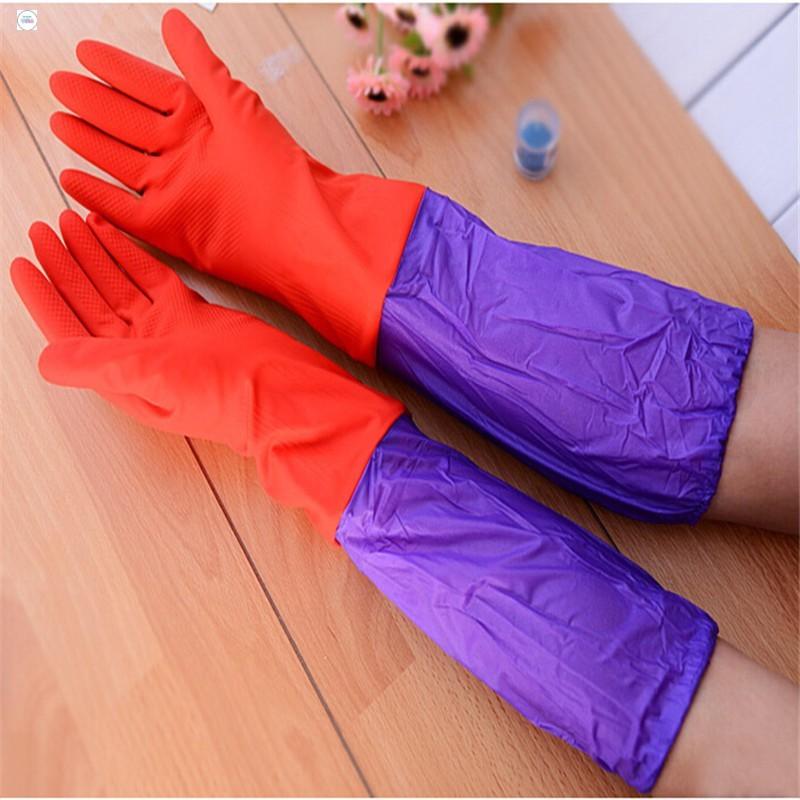 Găng tay cao su lót nỉ rửa bát HÀNG MỚI
