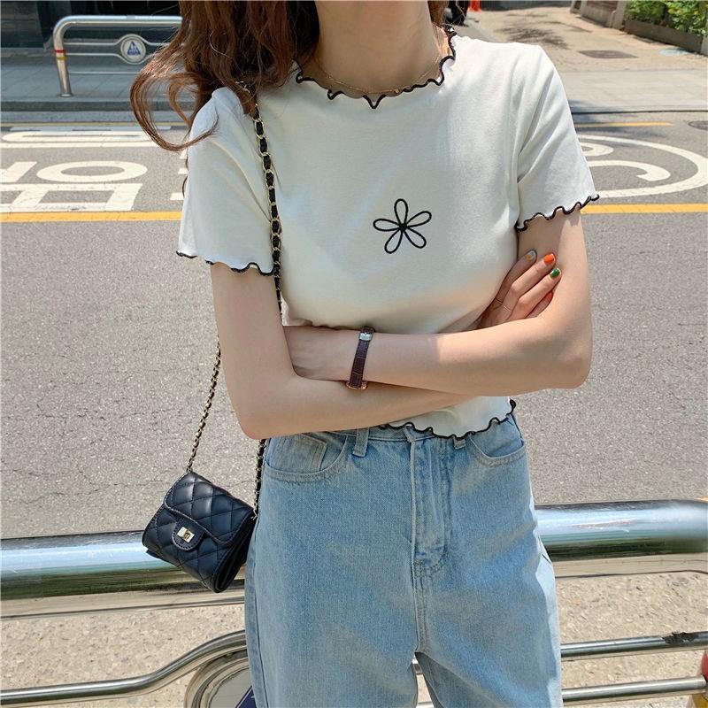 [Mã FASHIONCB94 hoàn tối đa 30K xu đơn 50K] Áo Croptop Ngắn Tay Thời Trang Hàn Quốc Cho Nữ