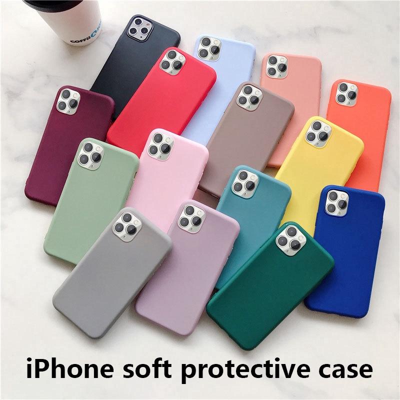 Ốp điện thoại TPU màu trơn cho Iphone 11 X