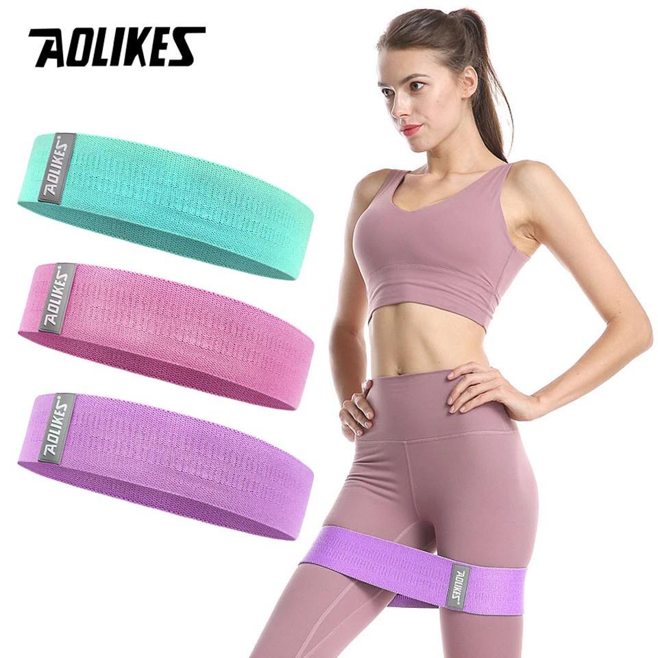 Bộ 3 dây kháng lực AOLIKES A-3604 đàn hồi tập cơ mông đùi chân hip resistance bands