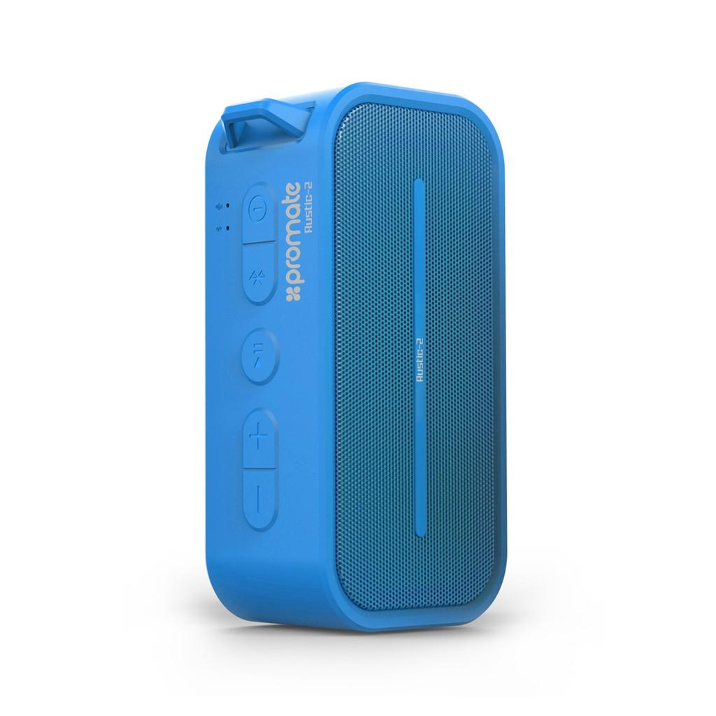 Loa Bluetooth Promate Rustic-2 IP5X chống thấm nước 6W (Xanh dương)