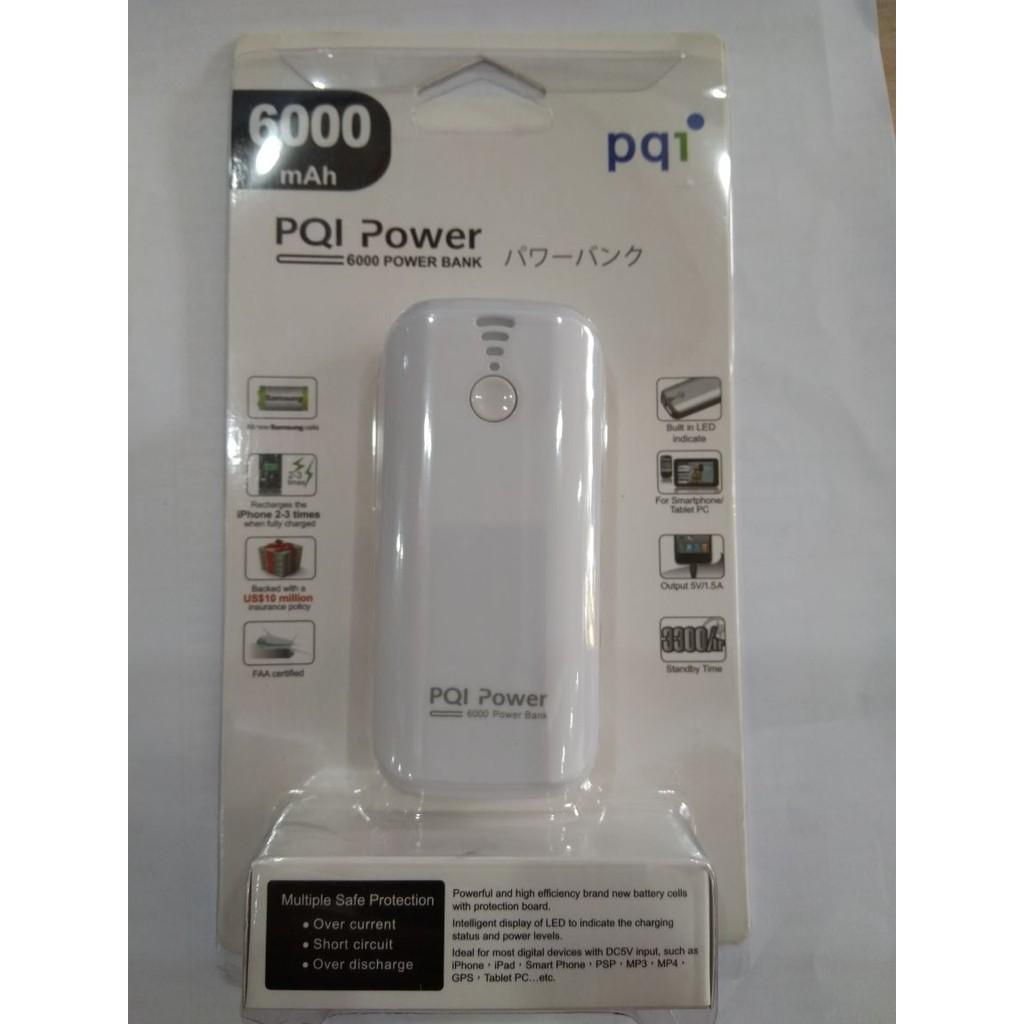 Sạc Dự Phòng PQI i-Power 6000T 6000mAh- Trắng