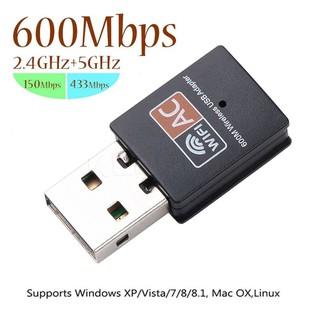 [Có sẵn] Nâng cấp WiFi 5G dễ dàng với USB WIFI 600Mbps cho máy bàn PC và laptop, card mạng usb hai băng tầng 2.4 / 5GHz