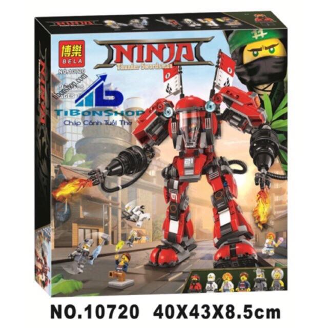 Lego ninja movie 10720- Robot phun lửa của Kai cỡ lớn 980 chi tiết