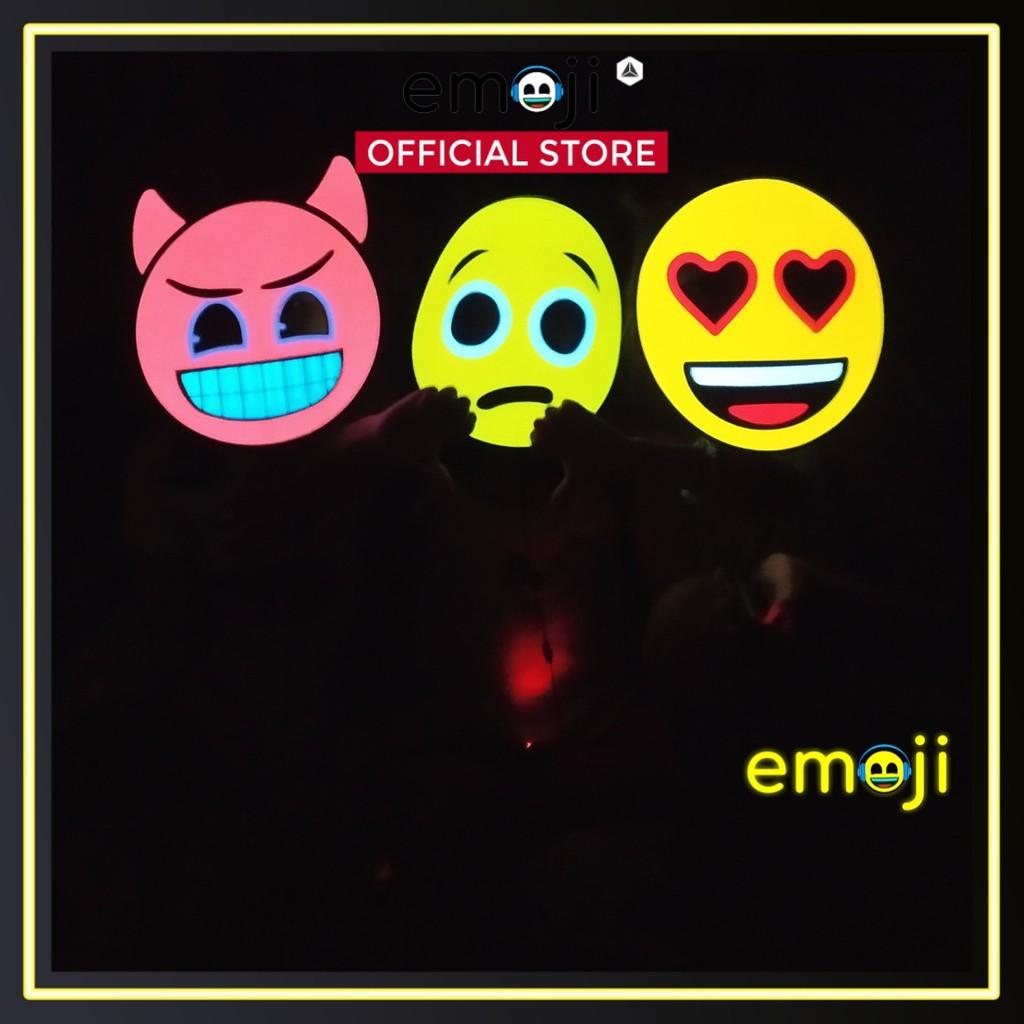 Mặt nạ đèn Emoji, chạy pin AA 3V, chiếu sáng nổi bật trong đêm, hoá trang độc lạ | Emoji