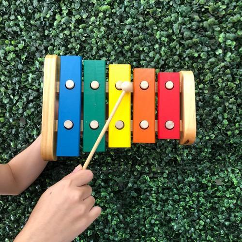 Đàn Xylophone 5 Thanh Loại To Bằng Gỗ
