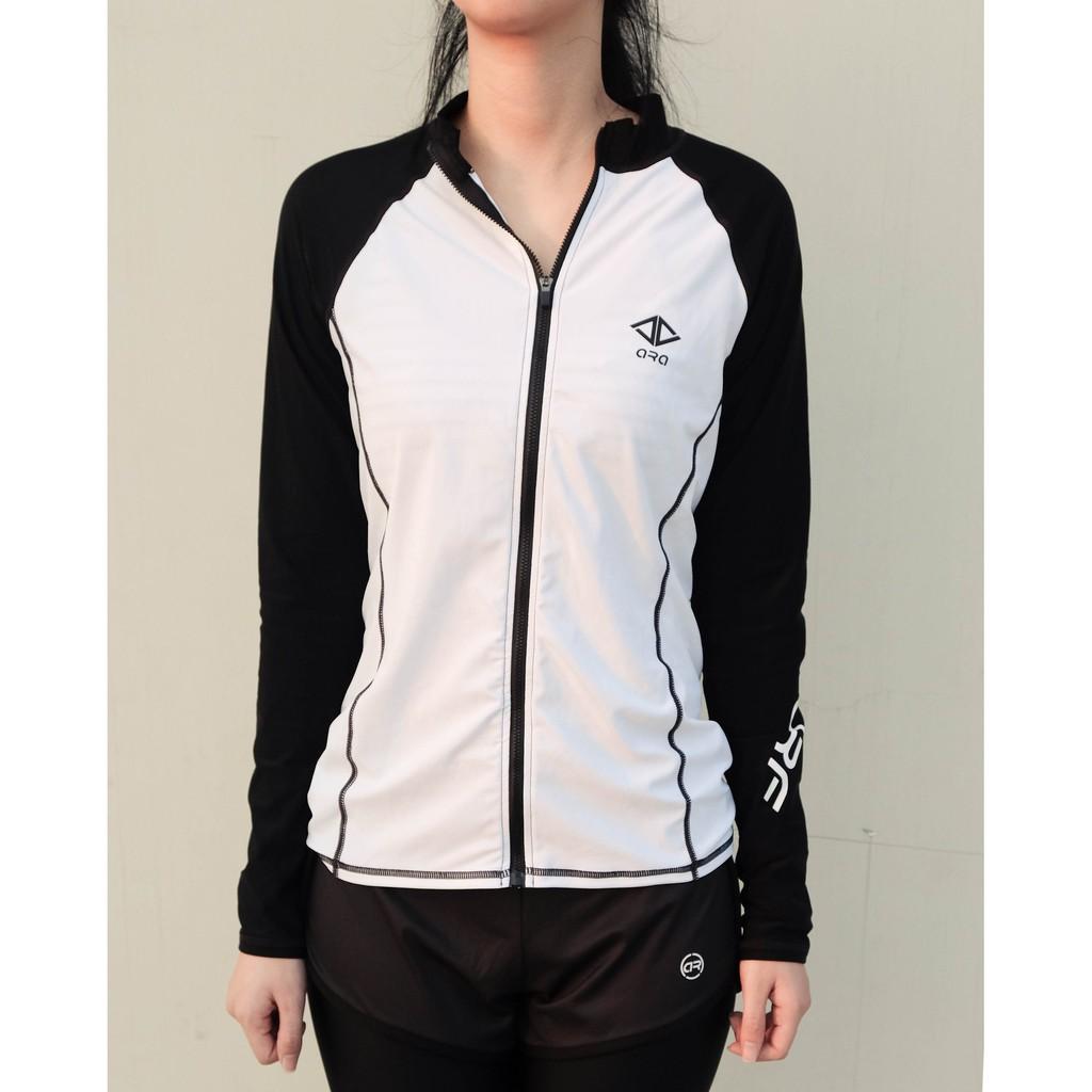 Áo khoác bơi dài tay [ẢNH THẬT] áo bơi dài tay nữ Hàn Quốc chống nắng co giãn cực tốt, mặc siêu thoải mái (52 - 65kg)