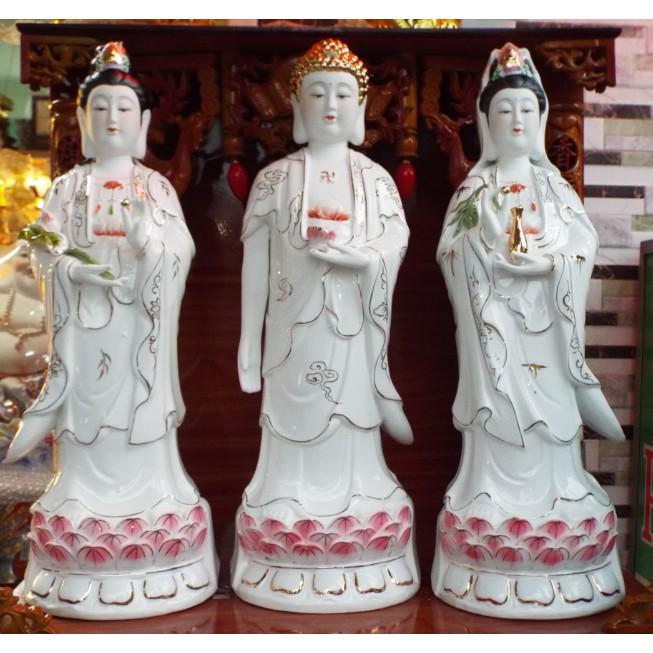 Bộ 3 Tượng Tam Thế Phật ( Đại Thế Chí - A Di Đà - Quan Thế Âm)