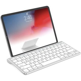 Bàn phím Bluetooth không dây có đế trượt Tương thích với Apple iPad iPhone Samsung Android Máy tính bảng Windows Bàn phím điện thoại - Bạc thumbnail