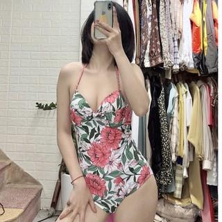 Bikini một mảnh 🏖️Freeship🏖️ liền thân hoa hồng đẹp sexy mặc đi biển đi bơi chụp ảnh Hà Nội
