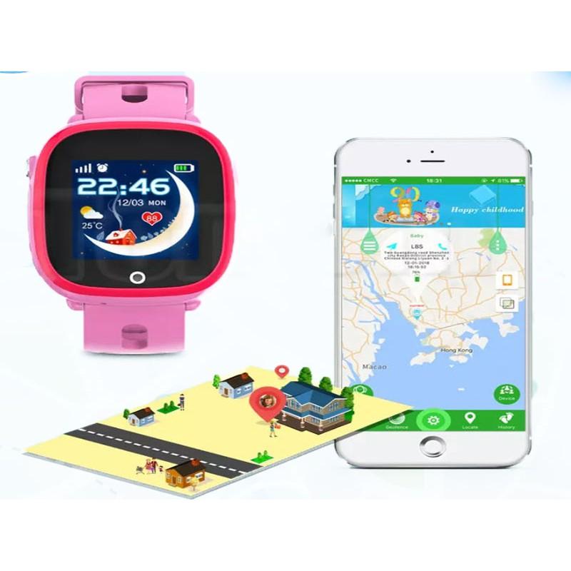 Đồng hồ định vị thông minh WONLEX GW600S - Wifi - Chống nước IP67 - Bảo hành chính hãng 12 tháng