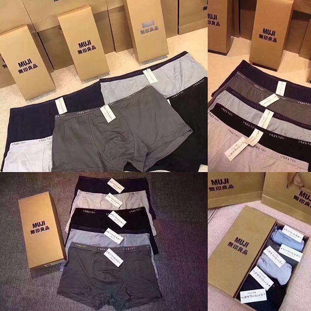 Hộp 5 chiếc quần sịp đùi nam MUJI