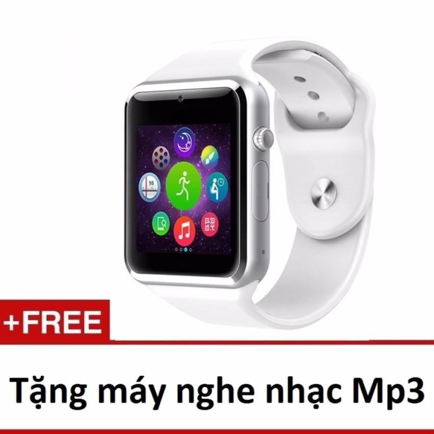 Giới thiệu sản phẩm Đồng hồ đeo tay hỗ trợ sim A1 (trắng)+ Máy nghe nhạc mp3