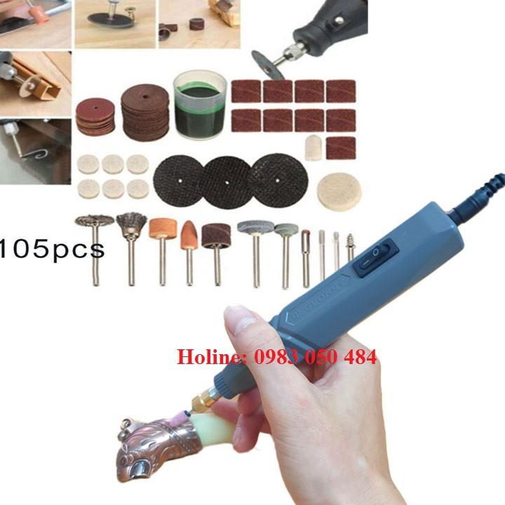 Bộ Máy Khoan Mài cắt Khắc mini Đa Năng 105 chi tiết k710 -105 hay bộ máy khoan cắt mini