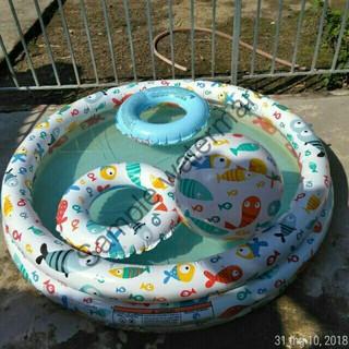 [GIÁ PHÁ ĐẢO] Bộ bể bơi 3 chi tiết Intex tặng kèm bóng + phao