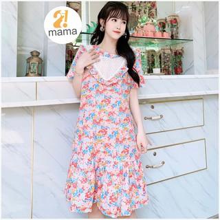 Váy bầu thiết kế 2MAMA hoa nhí dáng đuôi cá V79 thumbnail