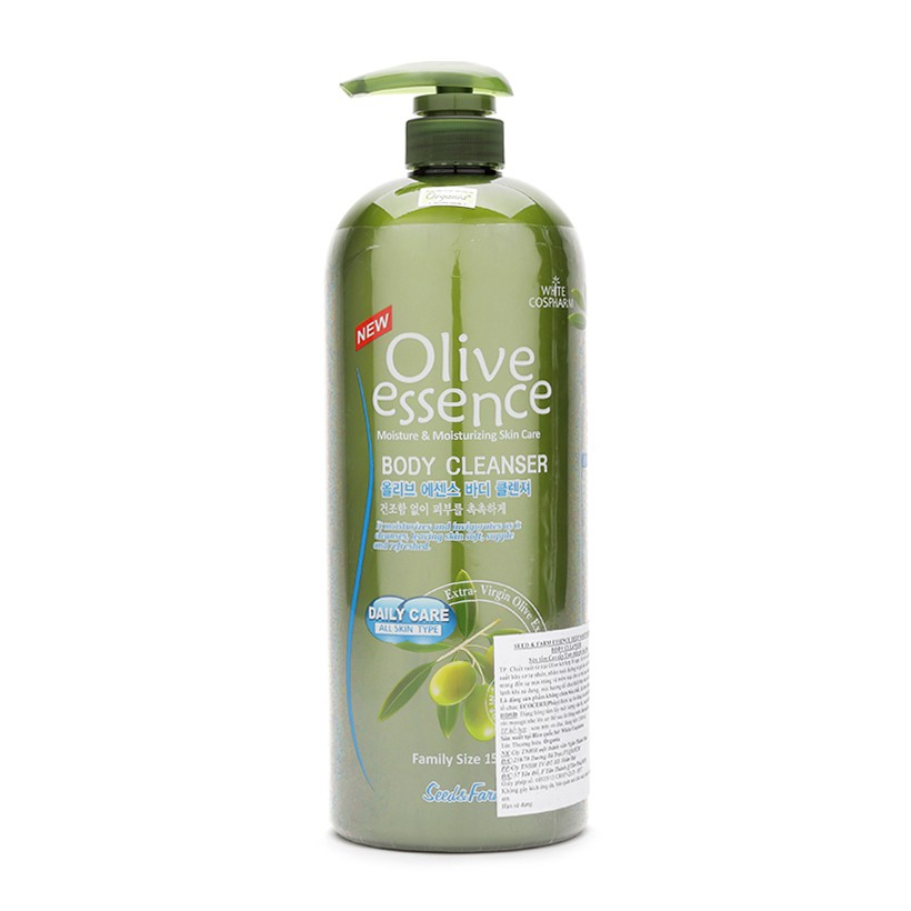 Sữa tắm dưỡng ẩm chiết tinh chất Olive Organia Olive Essence Body Cleanser 1500g - 3182003 , 295761278 , 322_295761278 , 365000 , Sua-tam-duong-am-chiet-tinh-chat-Olive-Organia-Olive-Essence-Body-Cleanser-1500g-322_295761278 , shopee.vn , Sữa tắm dưỡng ẩm chiết tinh chất Olive Organia Olive Essence Body Cleanser 1500g