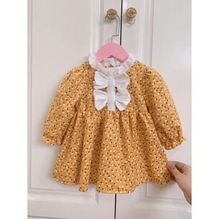 Váy công chúa cho bé💕𝑭𝑹𝑬𝑬𝑺𝑯𝑰𝑷💕váy trẻ em hoa nhí vàng cực xinh dễ thương